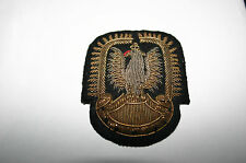 RAF WW11 POLISH OFFICER CAP BADGE WITH REAL GOLD THREAD GENUINE VERY RARE BADGE
