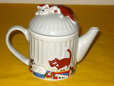 WADE WHIMSICAL FELINE COLLECTION CATS TEA POT 1Pt,by JUDITH WOOTON missing paint