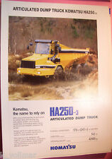 ✪altes original Prospekt/Sales Brochure Komatsu Articulated Dump Truck HA250-3