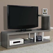Modern TV Stand Entertainment Center Grey Living Room Furniture Media Storage