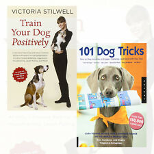 Train Your Dog Positively,101 Dog Tricks 2 Books Collection Set Paperback New