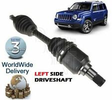 FOR JEEP PATRIOT 2.0DT SUV  9/2006 ON FRONT LEFT SIDE NEW DRIVESHAFT COMPLETE
