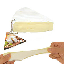 New Licensed Stretchy Natural Cheese Cake Squeeze Decompress With Tag Chains