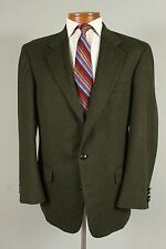 Tiroler Loden Lands End 43L Mens Green Wool 2 Btn Blazer Sport Coat  Jacket 278C