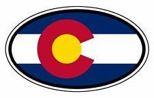 Colorado State Flag Car Hood Bumper Sticker Decal Oval 3""