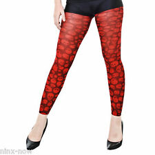 Horror Skull Red Footless Tights Costume Accessory
