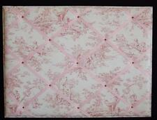 Deluxe Pink Fabric Memory Board Picture Bulletin Board Metal Frame