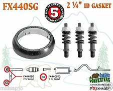 "2 1/4"" ID Exhaust Donut Gasket & Spring Bolt Hardware Repair Kit FX440SG"