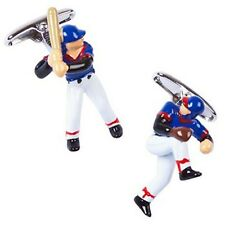 Baseball Player Pitcher Hitter Sports Cufflinks + Box & Cleaner