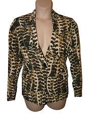BNWT size 16 TWIGGY for M&S ANIMAL PRINT NOTCH NECK Ladies JACKET in BLACK MIX