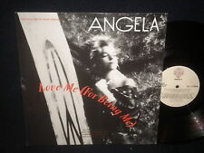 """Angela """"Love Me For Being Me"""" 12"""" Maxi Single PROMO"""