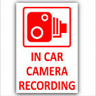 4 x In Car Camera Recording Sticker-CCTV Security Sign-Van,Car,Truck,Taxi,Cab-RY