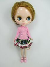 Blythe Outfit Handcrafted long sleeve dress basaak doll # 790-35