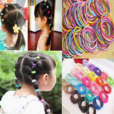 100pcs Women kids Ponytail Holder Hair Ties Head Band Hairbands Elastic Ropes
