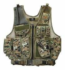 MARPAT Deluxe Tactical Vest Paintball Airsoft Army Holster USMC Woodland Camo