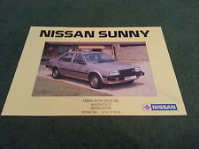 October 1983 Nissan SUNNY Saloon / Coupe / Estate - UK 12 PAGE COLOUR BROCHURE