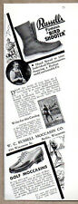 1935 Vintage Ad Russells Bird Shooter Hunting Boots Berlin,WI
