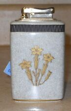 REDUCED-COLIBRI KREISLER TABLE LIGHTER-ROYAL COPENHAGEN-CRACKLED DESIGN FLOWERS