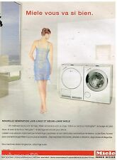 Publicité Advertising 2006 Machine à laver et sèche linge Miele
