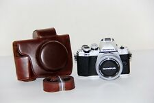 Coffee Leather Camera case bag Grip for Olympus EM10 with 14-42mm EZ Lens