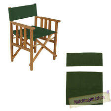 Green Director Chairs Replacement Polyurethane Coated Canvas Covers Garden