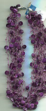 COLDWATER CREEK PURPLE 15 STRAND necklace
