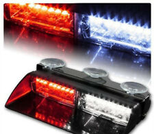 1X Red/White Police Strobe Flash Light Car 16 LED Dash Emergency Flashing Light