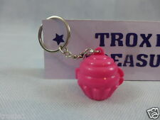 Tupperware Cupcake Keeper Mini Key Chain Opens Keep Pills Mints Etc. Pink New