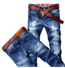 Hot Classic Men Stylish Designed Straight Slim Fit Trousers Casual Jeans Pants I
