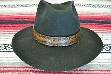 custom crafted cowboy hat band, quality hermann oak leather, HAT BAND ONLY-USA