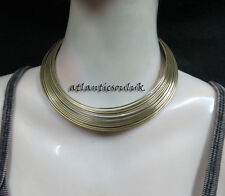 N117 Fashion collectible women brass tone metal wire choker Necklace Nepal Tibet