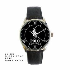 Rare Polo Ralph Lauren New Arrival Casual Unisex Silver-tone Round Metal Watch