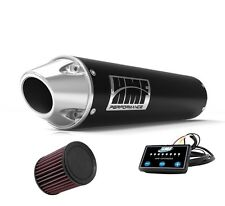 HMF Performance Slip On Exhaust Pipe Black Euro End Cap EFI K&N Brute Force 750