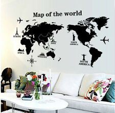 Removable DIY Quote World Trip Map Vinyl Art Wall Sticker Decal Mural Room Decor