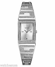 Guess Ladies Silver Dial Bangle Bracelet Quartz Watch U12548L1