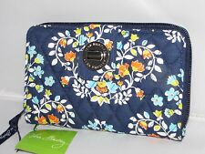 NWT  Vera Bradley in Chandelier Floral :  Turn Lock zip-around clutch Wallet