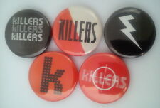 """5 x The Killers 1"""" Pin Button Badges ( band music hot fuss sam's town sawdust )"""