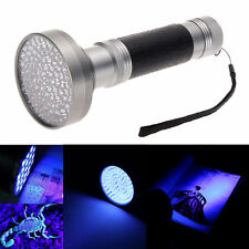 Portable 100 LED UV Blacklight Scorpion Flashlight Super Bright Detection Light