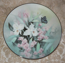 KNOWLES PLATE SAPPHIRE WINGS Jewels Of The Flowers TAN CHUN CHIU IRIS Butterfly