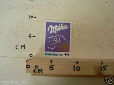 STICKER,DECAL MILKA THE OFFICIAL CHOCOLATE OF THE ALPINE SKI WORLD SESTRIERS 199