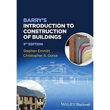 Barry's Introduction to Construction of Buildings, Very Good Condition Book, Gor