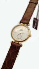 VETTA OROLOGIO UOMO GOLDENHILL ORO MASSICCIO 18 KT PELLE WATCH MAN GOLD LEATHER