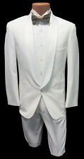 8B Boys White Shawl Tuxedo Dinner Jacket Ringbearer Wedding Formal Cruise