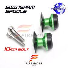 10MM CNC Green Swingarm Spools Set For Kawasaki ZZR 1400 (ZX-14R) 06-16 10 11 12