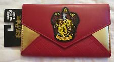 "HARRY POTTER GRYFFINDOR CLUTCH ENVELOPE WALLET NEW WITH 48"" CHAIN"