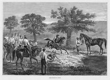 LIME CUTTING SPORT HORSE GAMES IN INDIA SWORD SADDLE HARNESS VINTAGE ENGRAVING