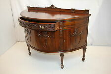 Unique Antique Adam Style Mahogany Demi-Lune Server Commode Hall Cabinet c. 19th
