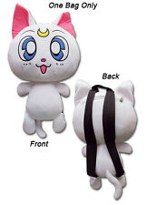 **License Bag** Sailor Moon White Guardian Cat Artemis Plush Bag Backpack #84599
