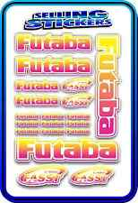 FUTABA SERVO RADIO RX TX 2.4G FLIGHT REMOTE CONTROL STICKERS FASST PINK YELLOW W