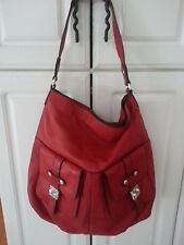 Ralph Lauren RED PEBBLED LEATHER TOTE SHOULDER TOTE NEW ish